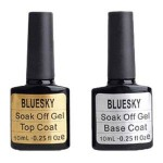 Bluesky Shellac UV LED Gel auflösbarer Nagellack 10ml kit top and base coat, 2er Pack